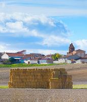 Landscape village Spain haystack rural