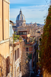 Rome street and skyline