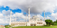 Beautiful new Camlica Mosque in Istanbul, Turkey