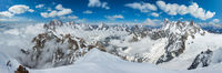 Mont Blanc mountain massif view from Aiguille du Midi Mount