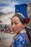 Woman on festival in Ladakh