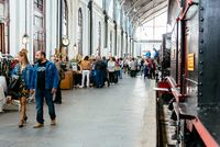 Flea Market at Madrid Railway Museum