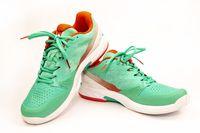 Tennis shoes in studio