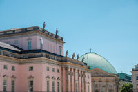 Historic architecture of Opera and Cathedral at Bebelplatz in old town  of Berlin