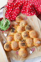 Bread rolls for Christmas