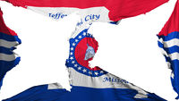 Destroyed Jefferson city capital flag