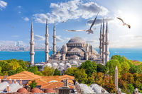 Famous Sultan Ahmet Mosque in Istanbul, Turkey