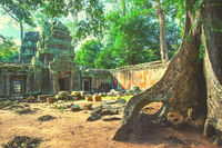Ancient ruins of temple in Cambodia