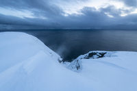 Stormy weather, Barents Sea, Soeroeya Island, Finnmark, Norway