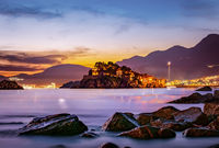 Sveti Stefan at sunset