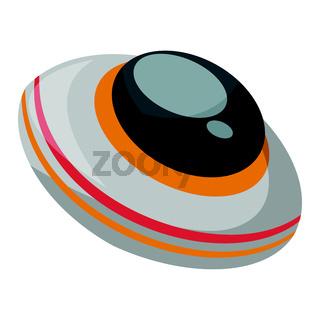 Alien spaceship vector illustration on white background