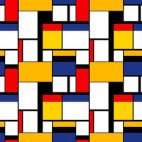 Colorful painting in Piet Mondrian's style, modern seamless pattern