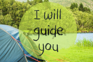 Lake Camping, Text I Will Guide You