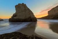 Twilight over Shark Fin Cove (Shark Tooth Beach).