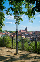 View from the cathedral in Havelberg to the old town of Havelberg