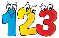 Cartoon numbers theme image 1