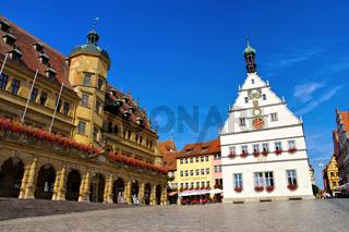 Rothenburg Rathaus und Ratstrinkstube - Rothenburg town hall and Councillors Tavern