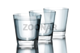 tree water glasses empty half and full philosophy