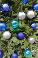 Christmas Baubles Blue