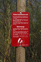 Hinweisschild Naturwaldreservat