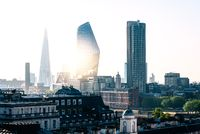 Cityscape of the City of London in the morning