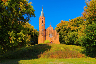 Sassnitz Johanniskirche - in Sassnitz, the Johannischurch, island Ruegen