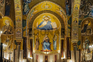 One of the three apses of Cappella Palatina - Palermo