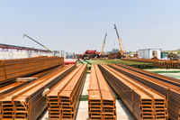 joist steel on construction site
