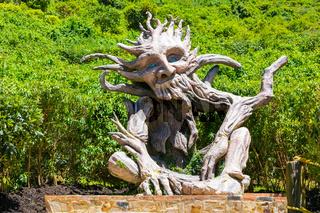 Colombia Bogota Jaime Duque Park wood sculpture