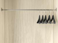 Empty hangers in the wardrobe