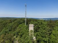 Ith lookout tower or Ithturm located on the mountain between Lauenstein and Bisperode in Lower Saxony