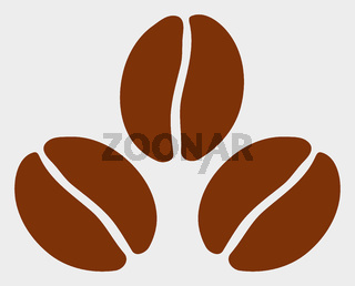 Cacao Beans Raster Icon Illustration