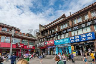 Shops in Muslim Quarter in Xian