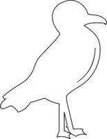 Seagull Icon Vector
