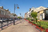 Tourist street in the center of Nizhny Novgorod