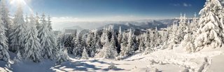 Idyllic winter panorama