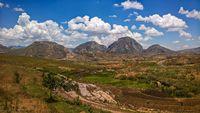 Landscape to Andringitra mountain range , Ihosy, Madagascar