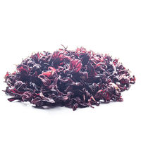 Dry Hibiscus petals on white background closeup