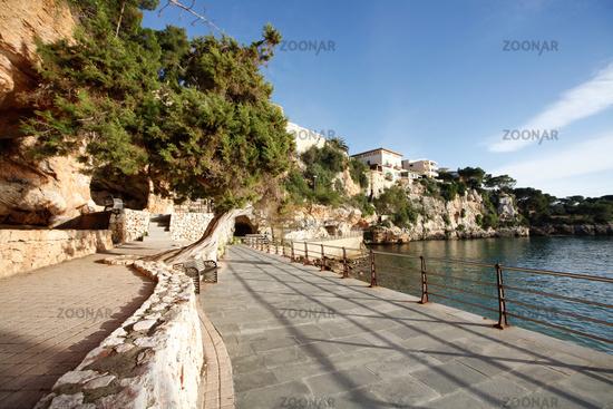 Porto Cristo, Mallorca, Spain 18.December.2018 at the Beach