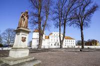 Statue of Luise Henriette of Nassau in front of Oranienburg Palace, Brandenburg, Germany