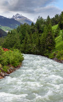 Silvretta Alps mountain river, Austria