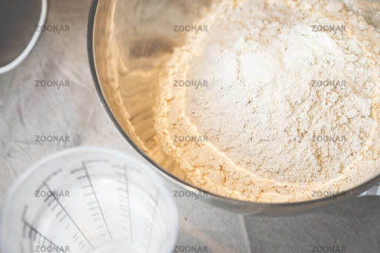 Bread dough, made from yeast, flour and other ingredients will make a delicious bread.