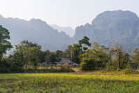 Local farm outside Vang Vieng, Laos