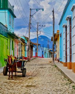 Cuba - Street View w Donkey Cart