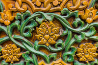 Abstract chinese floral pattern - wall background