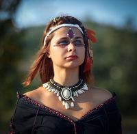 Portrait of a beautiful ethnic woman