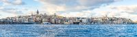 Panorama view of Istanbul city skyline in Istanbul city, Turkey.