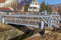 Draw bridge at historic Ludwig Danube Main Canal in Kelheim