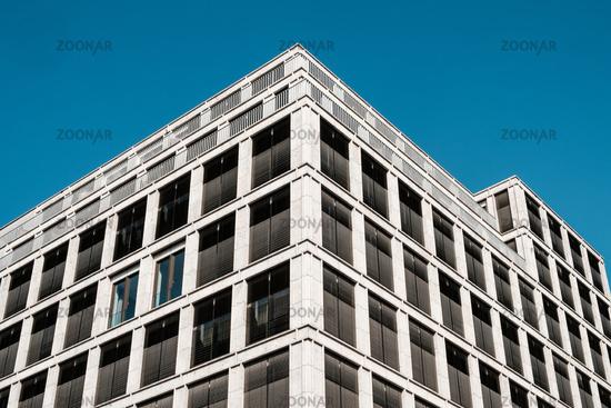 commercial real estate facade - modern office building -