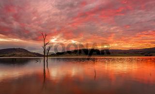 Sunset lake side